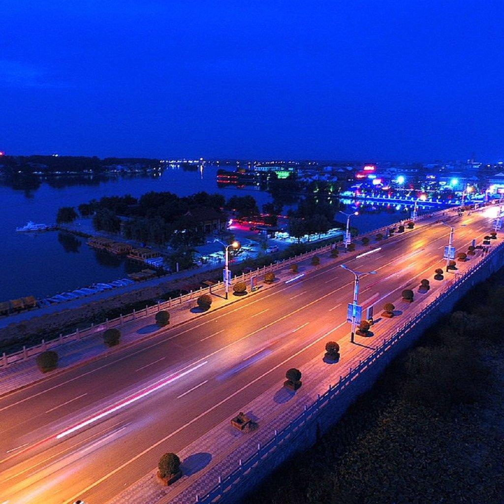 周口同城# 淮阳龙湖风景区#绿色的龙湖.-来自河南