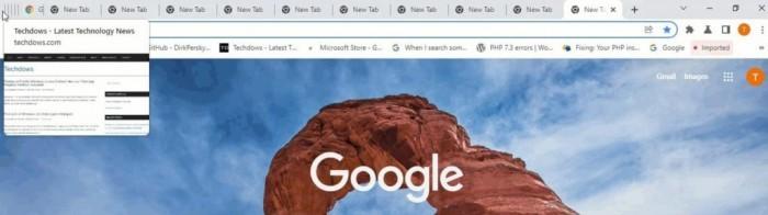 Google Chrome正在清理使用率低下的标签页堆叠功能