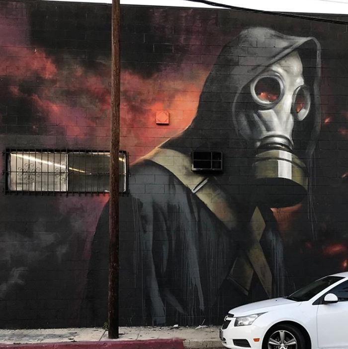 全球新冠肺炎疫情下世界各地的街头涂鸦艺术插图(9)