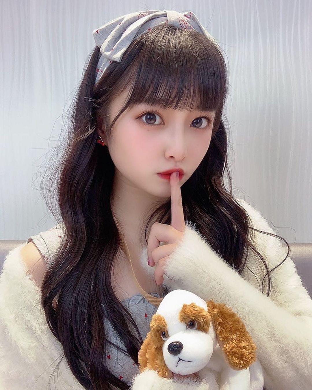 大眼美女@神城ののか 咬发圈撩马尾模样超可爱 网络美女 第2张