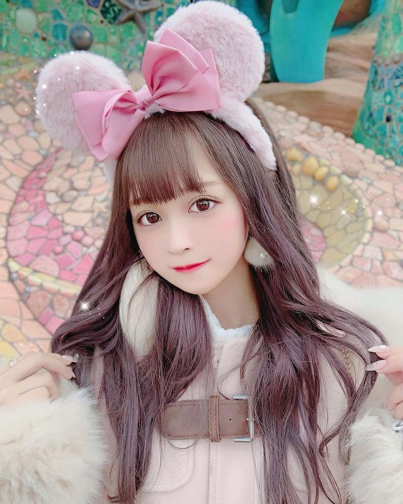 日本樱花妹Bunny可爱的颜值根本就是漫画中的洋娃娃