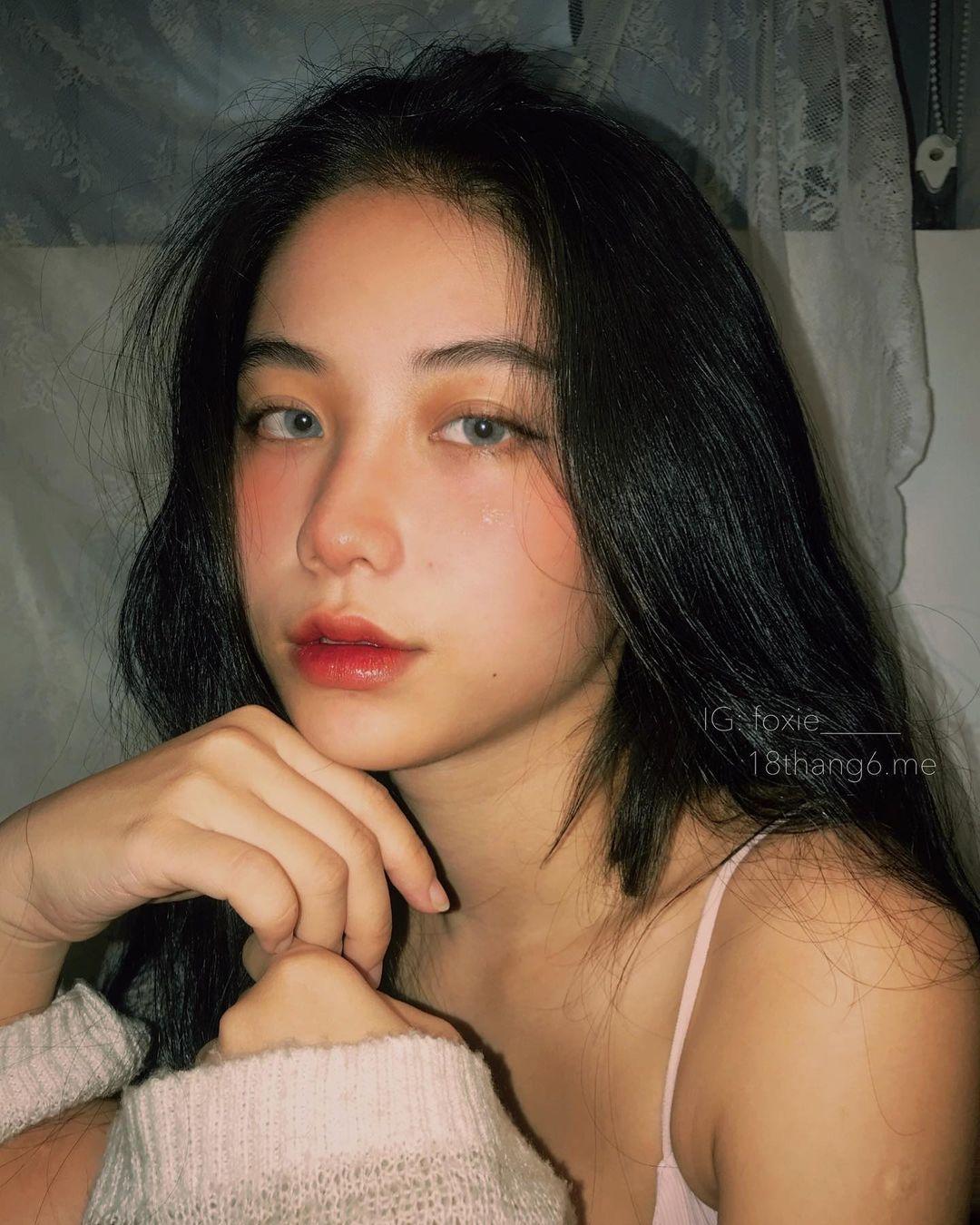 天菜越南妹「Kim Anh」迷蒙眼神仿佛随时在放电空灵气质更是无比疗愈人心 养眼图片 第12张