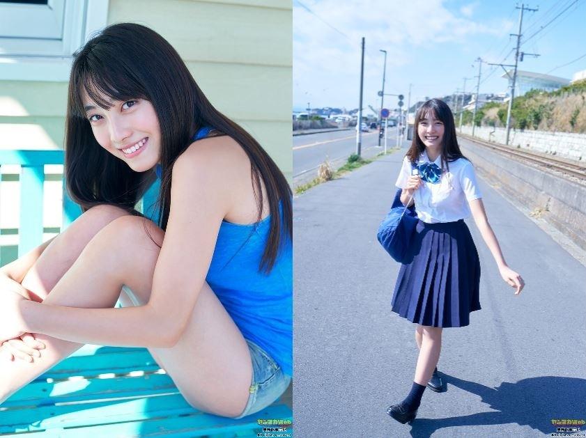日本最可爱15岁「福田ルミカ」比基尼泳装如天使般 养眼图片 第15张