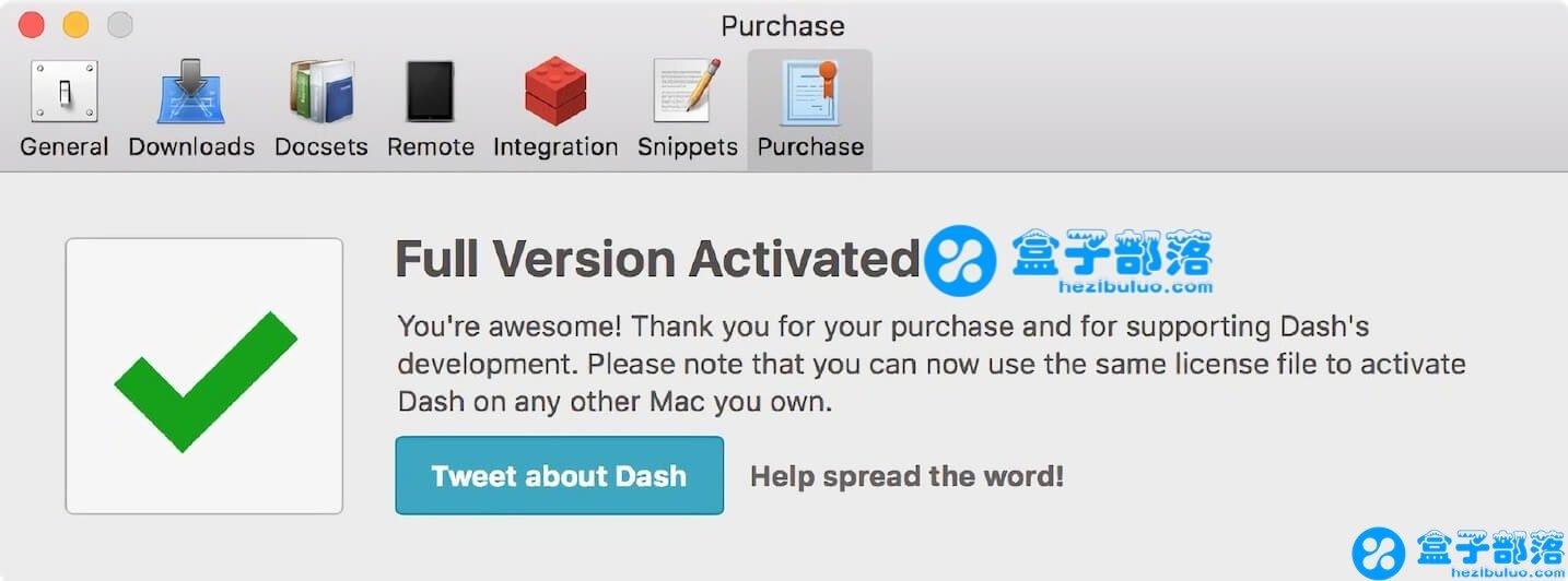 Dash v4.6.0 for Mac 程序员必备优秀的 API 文档聚合管理工具