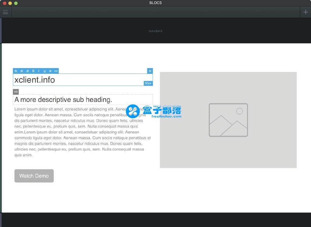 Blocs v3.0.7 不懂代码也能设计网站,优秀的网页开发工具