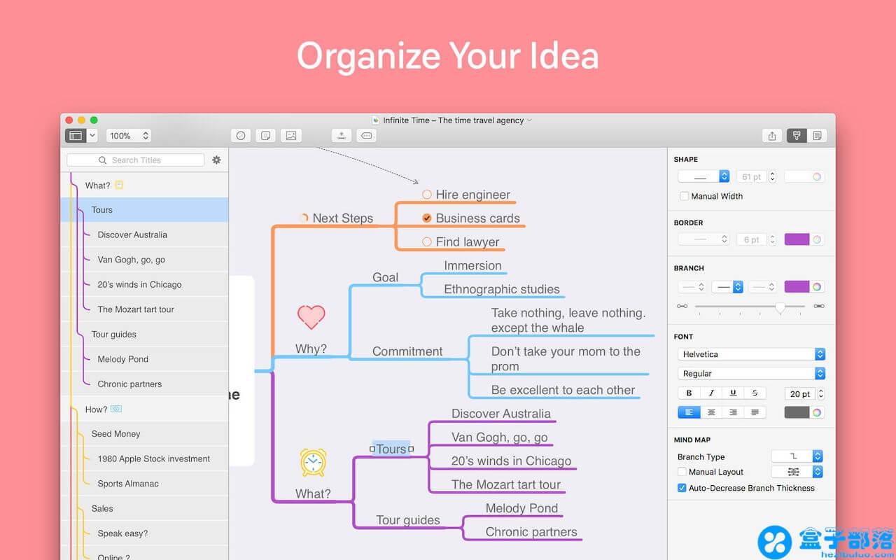 MindNode 5.0.1 for Mac 一款风格简约和轻量的思维导图应用