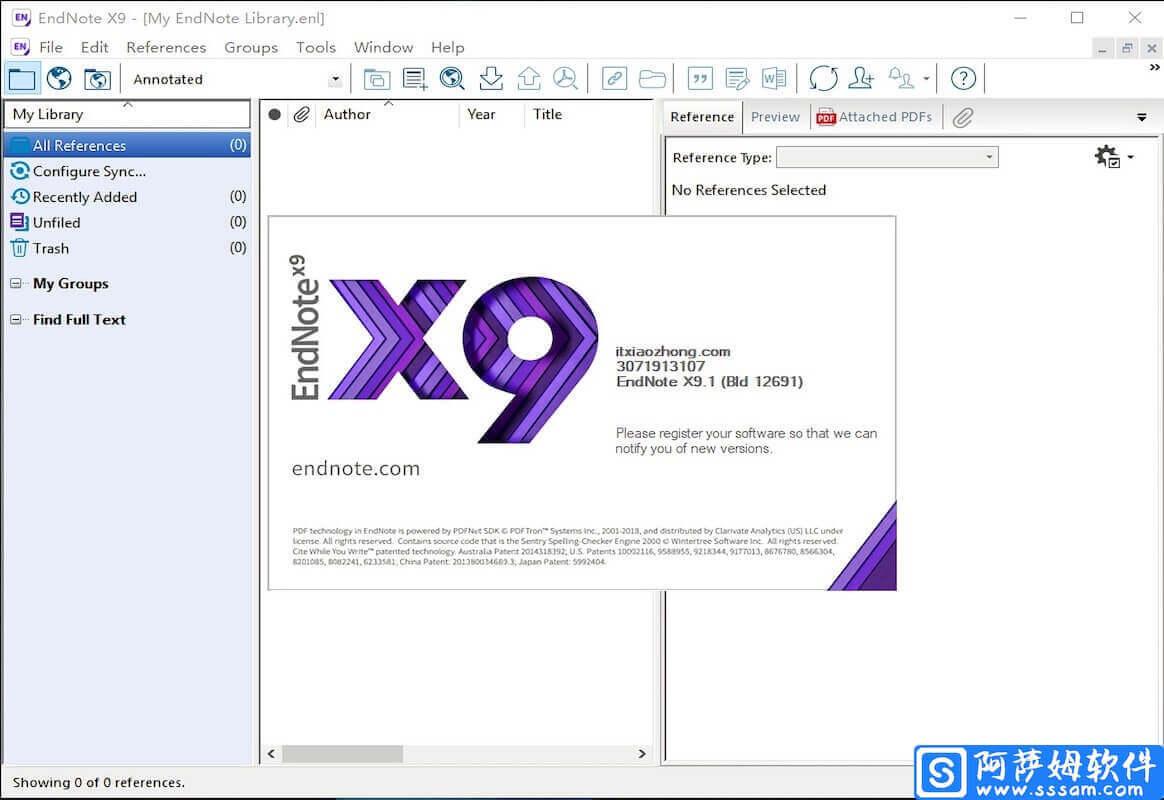 EndNote X9.3 功能强大的参考文献管理软件