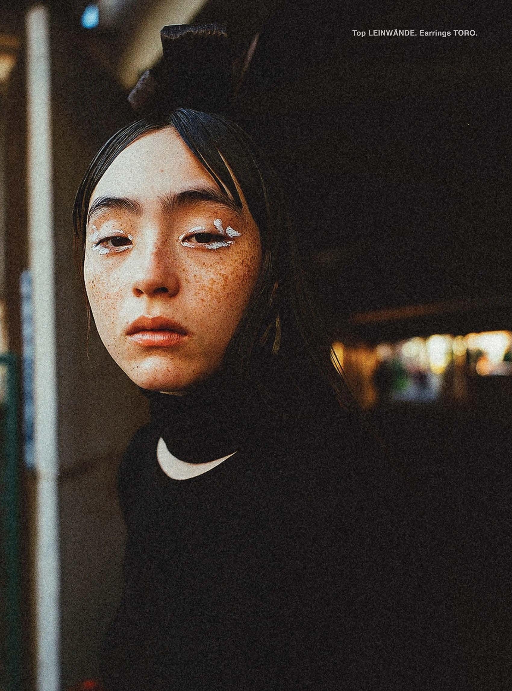 满脸雀斑却依旧很美的混血模特世理奈写真作品 (6)