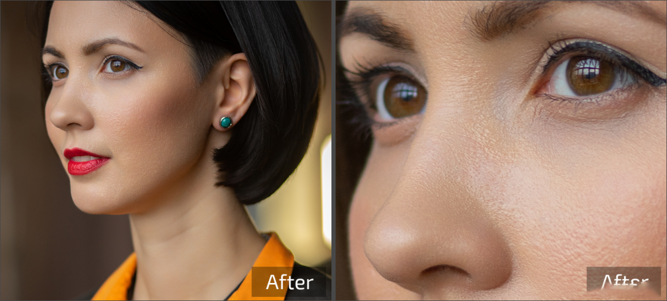 Retouch4me 6套合集 AI人工智能美容润饰中性灰均匀肤色清洁背景_AI磨皮动作 _效果图11