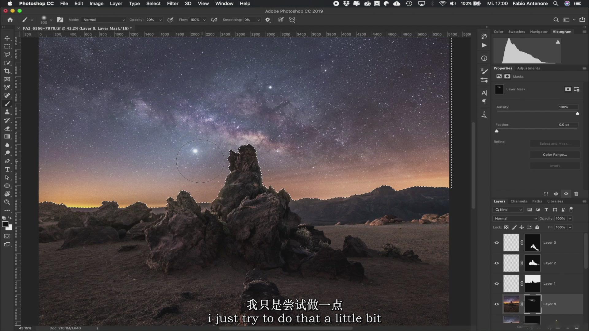 摄影教程_Fabio Antenore-超级真实银河系夜景风光摄影及后期附扩展素材-中英字幕 摄影教程 _预览图23