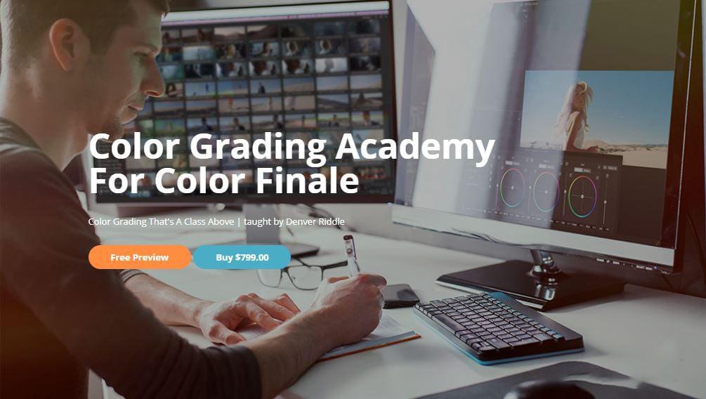 [FCPX 教程] Color Grading Academy- 颜色分级学院Final Cut Pro X 颜色分级大师班教程-中英字幕