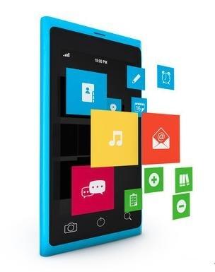 蓝色微软手机图