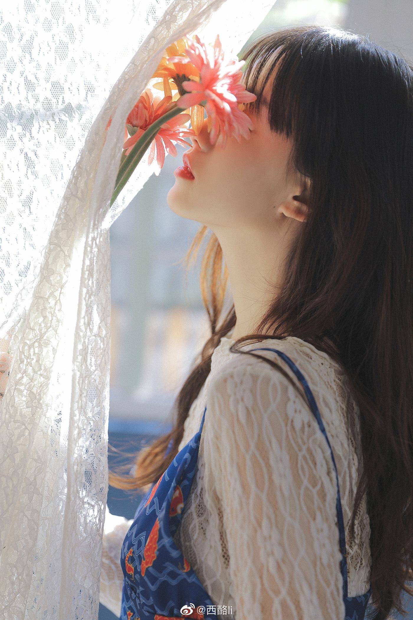 少女与菊插图