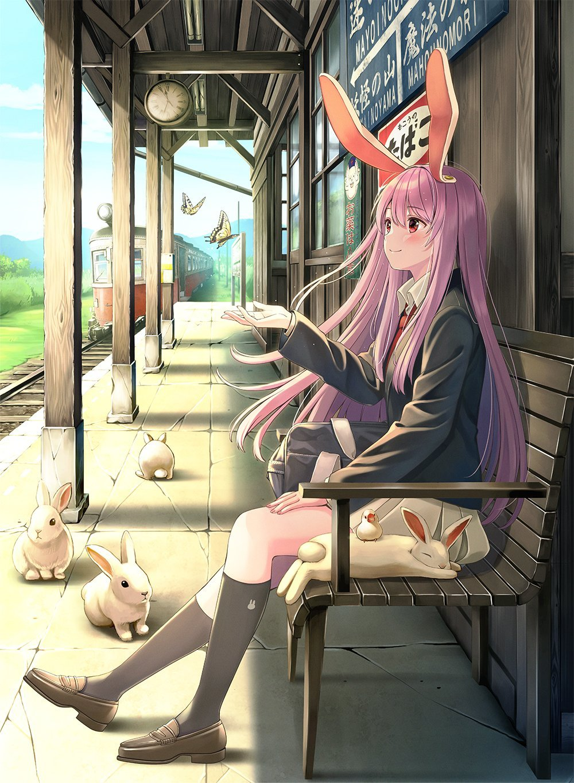 【P站美图】还 是 兔 兔!《东方Project》铃仙壁纸特辑- ACG17.COM