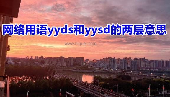 yyds什么意思 网络用语yyds和yysd的两层意思