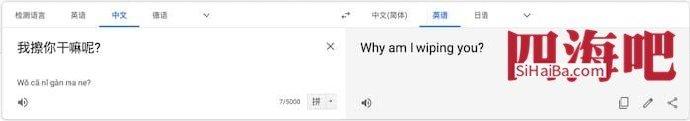 谷歌机翻的结果